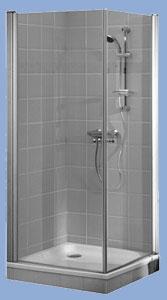 Alföldi Liner 100 x 80 cm, négyzetes zuhanykabin