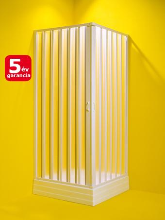 Olsen Spa Giove szögletes plexi harmónika zuhanykabin 60-80x60-80