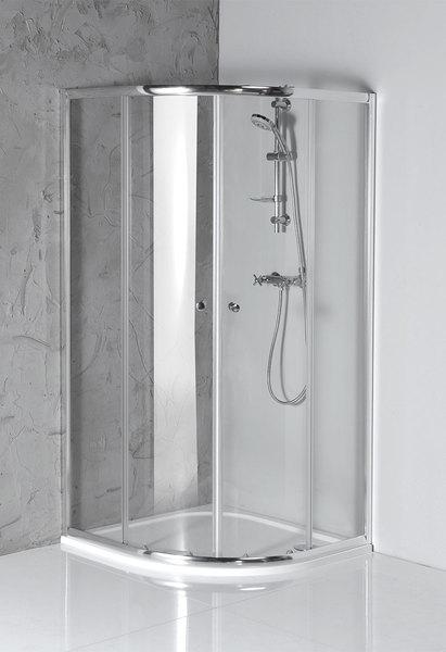 Aqualine ARLETA íves zuhanykabin 90x90x185 cm (HLS900)