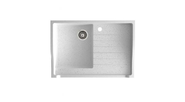 Marmorin Rubid szögletes gránit mosogató csepegtetővel  895 x 615 x 270 mm