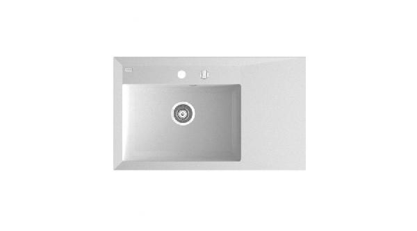 Marmorin Ivo szögletes gránit mosogató csepegtetővel 850 x 500 x 207 mm