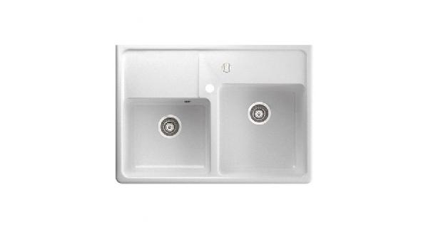Marmorin Ewit gránit mosogató szögletes 2 medencés 895 x 630 x 210 mm