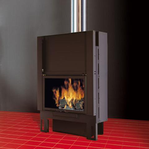 EDILKAMIN TEKNO 1 UP fatüzelésű zárt tűztér ventilátoros rásegítés (R)
