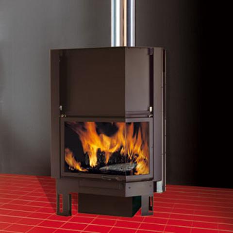 EDILKAMIN TEKNO 2 fatüzelésű zárt tűztér ventilátoros rásegítés (R)
