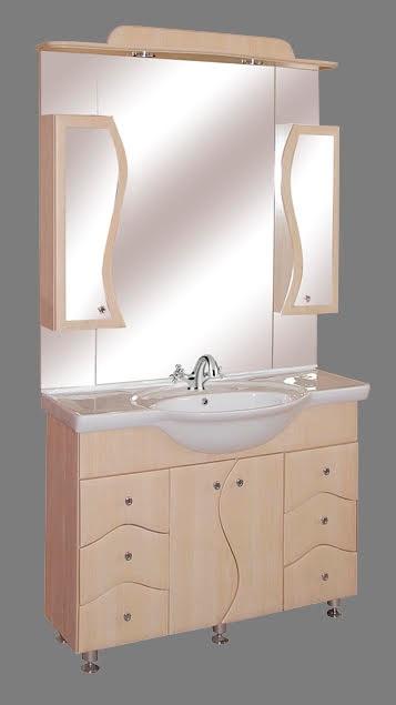 """Guido """"S100"""" modell porcelánkagylós fürdőszoba bútor, komplett - több színben rendelhető"""