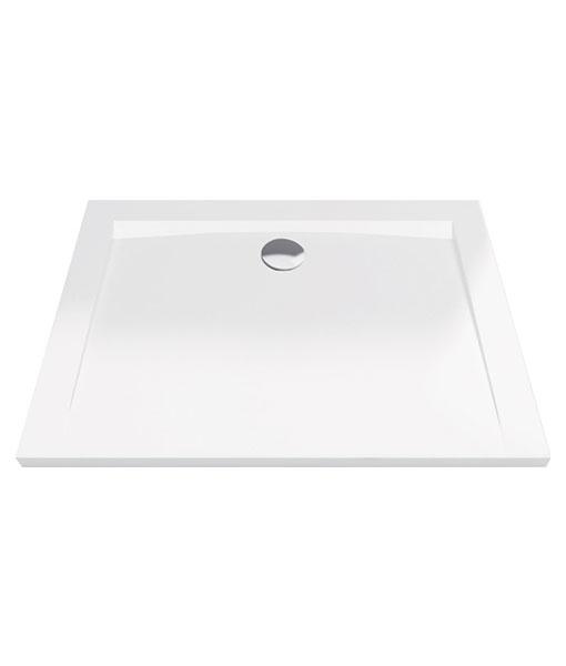 Excellent Forma akril 90x120x4cm téglalap fehér zuhanytálca - alacsony