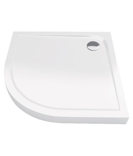 Excellent Sense Compact 90x90x11cm íves akril fehér zuhanytálca - magas