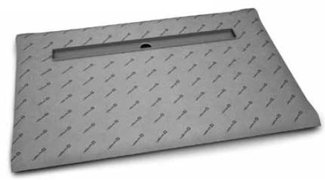 Téglalap alakú zuhanytálca folyókával 109x89, 8-12 mm vastagságú padló burkolatokhoz
