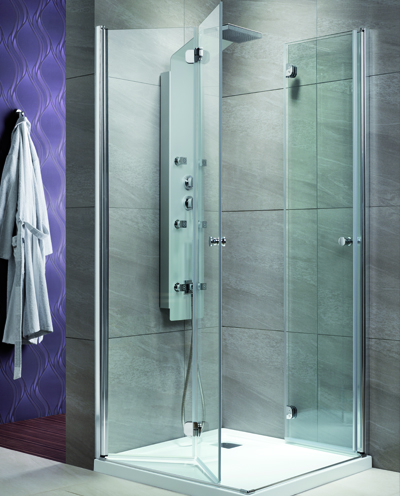 Radaway EOS KDD-B 100x100/197 szögletes zuhanykabin harmonika ajtókkal