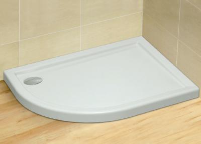 Radaway Tasos E 80x100 aszimmetrikus akril zuhanytálca, szifonnal