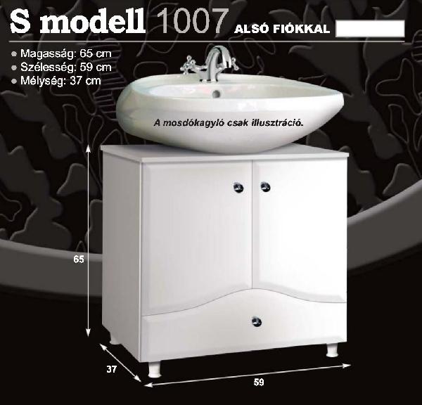 """Guido """"S modell"""" 1007 mosdó alá, alsó fiókos fürdőszoba bútor - több színben rendelhető"""