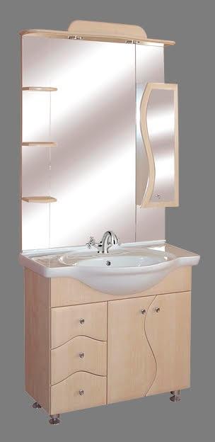 """Guido """"S86"""" modell porcelánkagylós fürdőszoba bútor, komplett - több színben rendelhető"""