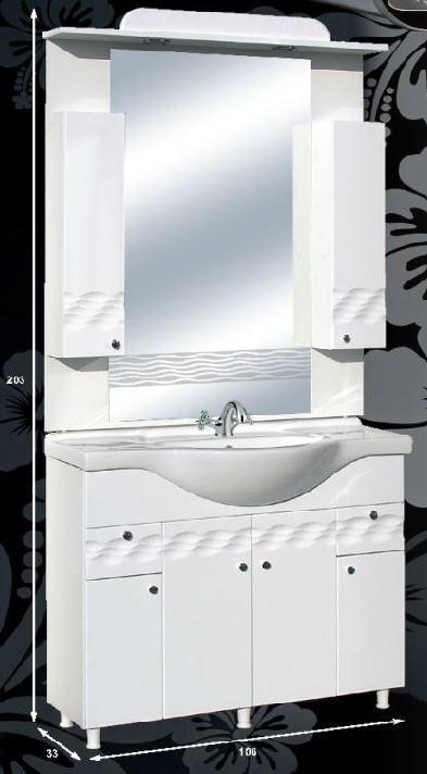 """Guido PORCELÁN """"ÓCEÁN 100"""" fürdőszoba bútor, komplett - több színben rendelhető"""