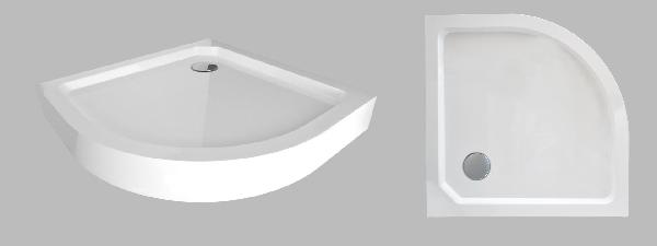 Wellis íves 90x90x14cm magas zuhanytálca SMC