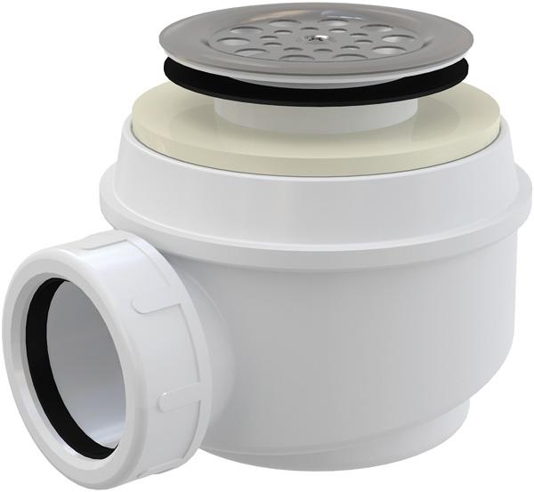 Alcaplast A46 50 zuhanyszifon rozsdamentes ráccsal