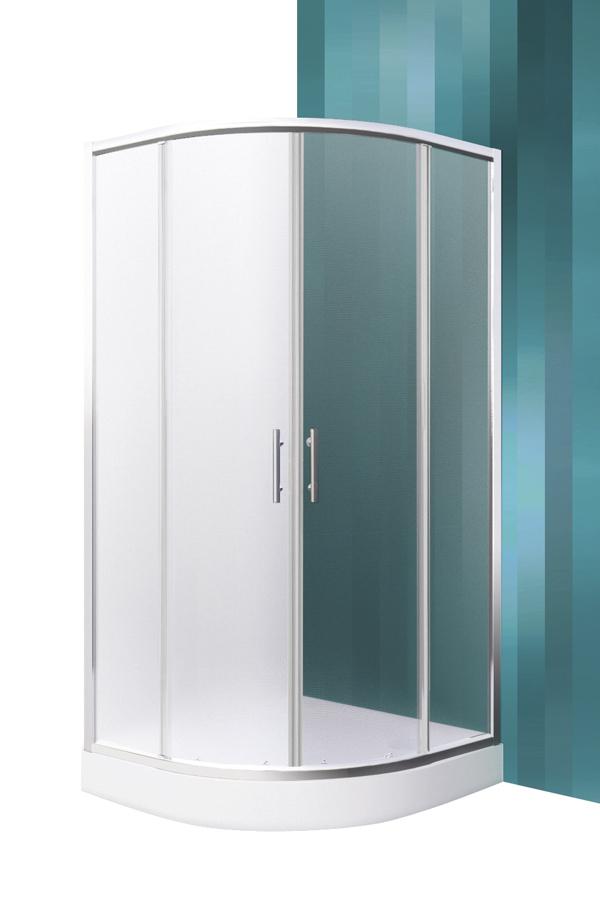 Roltechnik Houston Neo SZETT 80x80 íves,keretes,görgős zuhanykabin + Dream-P zuhanytálca