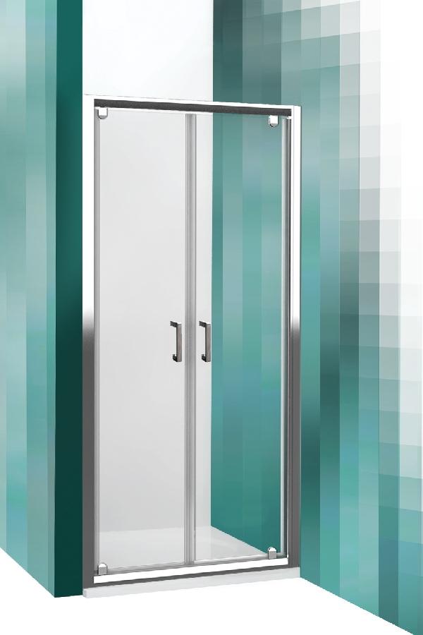 Roltechnik LEGA LINE kétszárnyas zuhanyajtó két fal közé (LLDO2/1000)