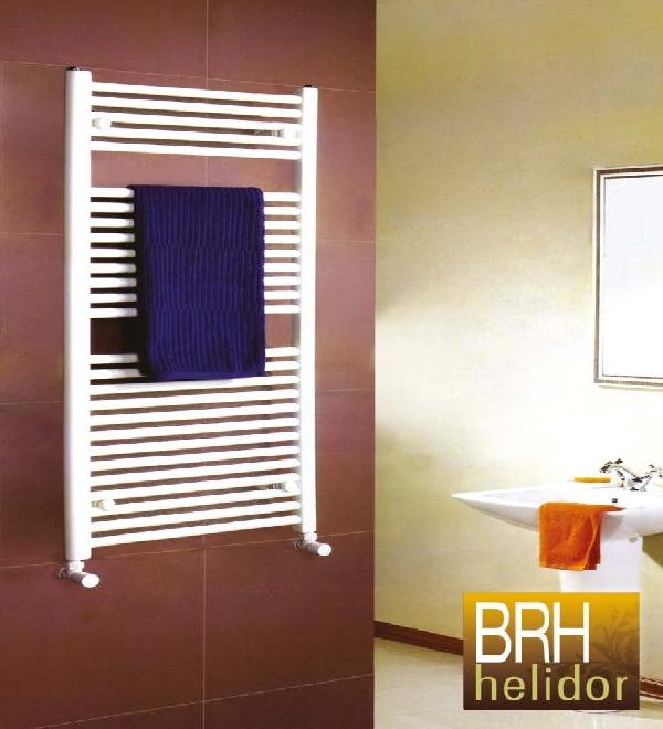 BRH Helidor egyenes fehér csőradiátor 1250x300 mm