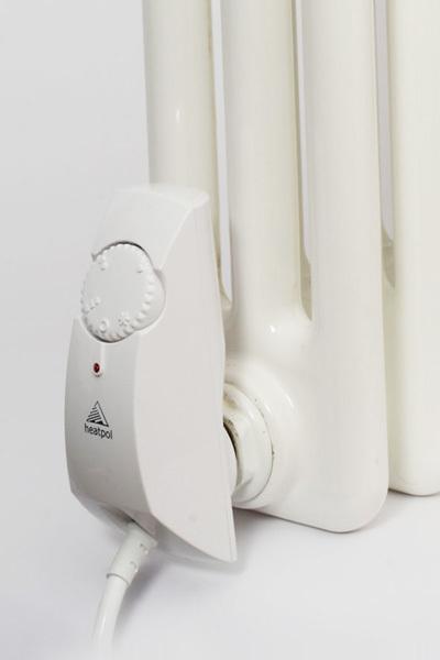 Heatpol HGT600W szabályozható (10-75°C) termosztát fűtőpatron tagosított radiátorokhoz fehér