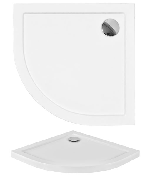 Niagara Dyna-Q / ARON SLIMLINE 90x90 íves akril zuhanytálca