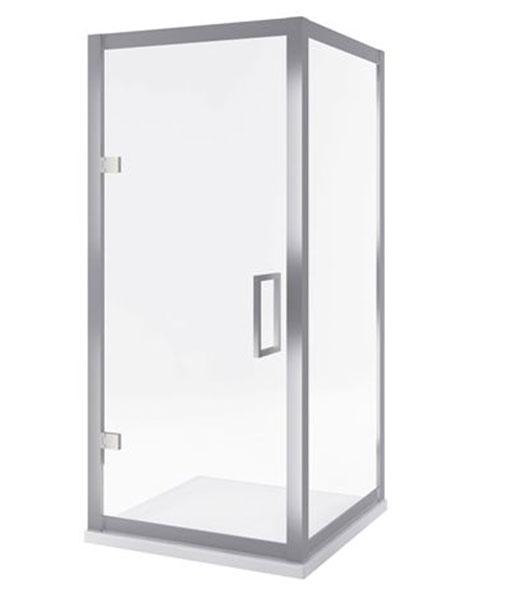 Excellent 600-as sorozat szögletes zuhanykabin 90x90x195 - oldalfal+nyíló ajtó