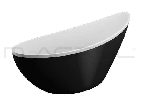 M-acryl Paradise szabadon álló kád 180x80 - fekete előlappal + láb