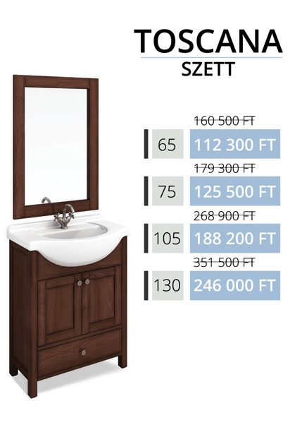 Tboss Akciós TOSCANA SZETT 65 fürdőszobabútor