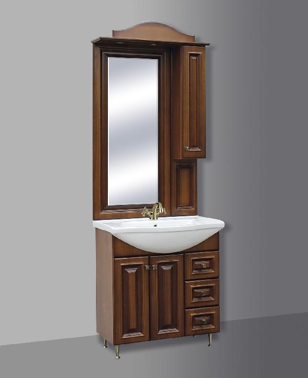 Guido BAROKK 76 fürdőszoba bútor, komplett - fújt DIÓ
