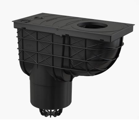 Alcaplast AGV2 Univerzális vízelvezető 305x155/125 fekete