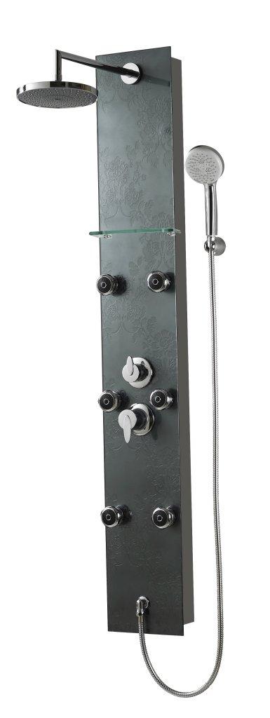 Sanotechnik BARCELONA fekete Hidromasszázs zuhanypanel
