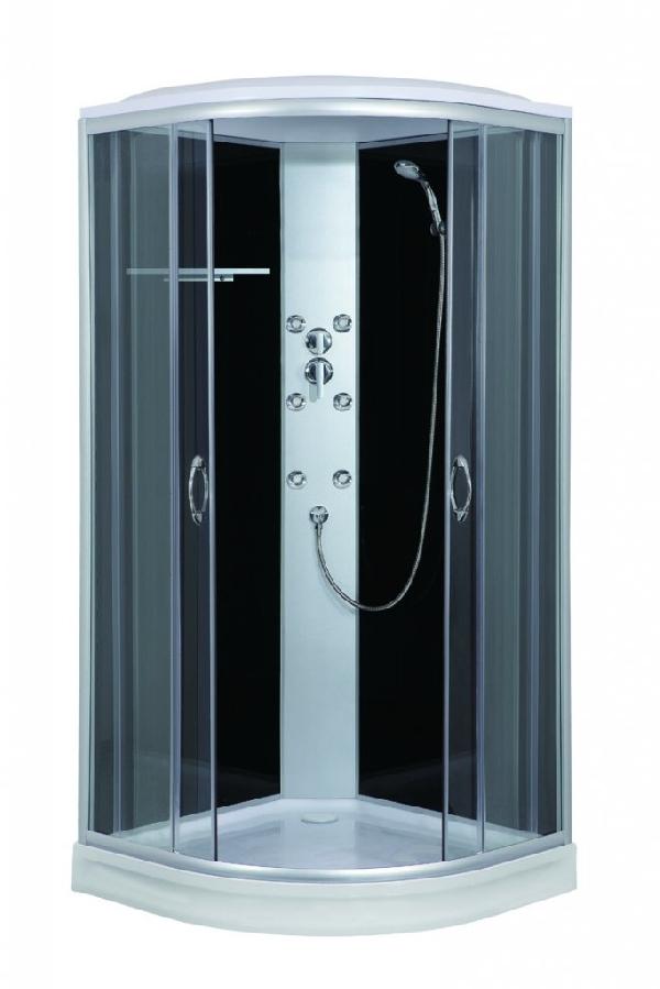 Sanotechnik Punto Hidromasszázs zuhanykabin fekete