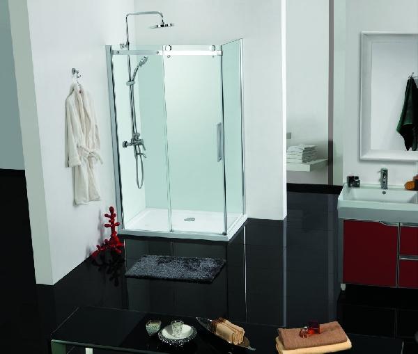 Sanotechnik Elegance szögletes sarokkabin tolóajtóval 80x120x195 cm