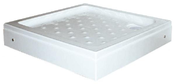Sanotechnik szögletes zuhanytálca levehető előlappal P18