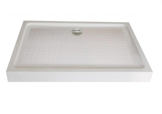 Sanotechnik szögletes zuhanytálca fix előlappal P108