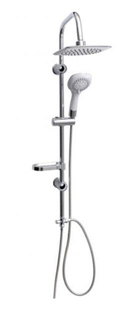 Sanotechnik Sínes zuhanyszett 2 fejjel, fehér AS1030