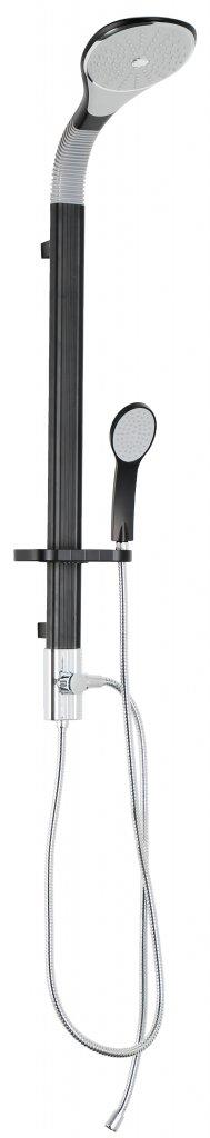 Sanotechnik Super Flex zuhanyszett, fekete AS903
