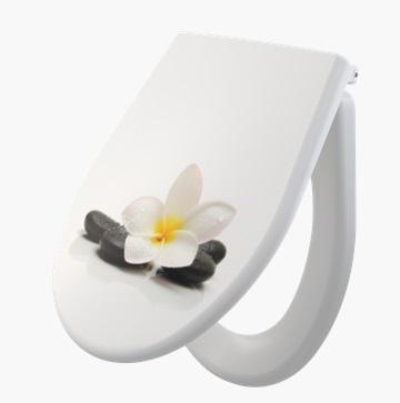 Alcaplast A604 Flower Softclose duroplast wc ülőke