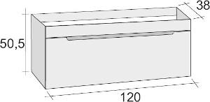 Riho Enna alsószekrény 120cm