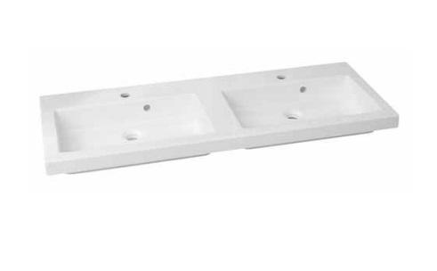 Duschland Quadra 120 dupla öntött márvány mosdó