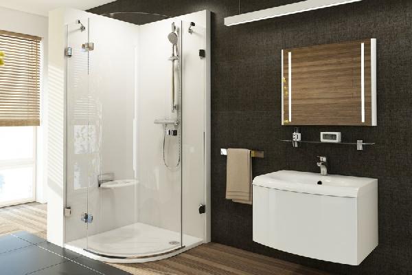 Ravak Brilliant BSKK3 háromrészes, 90-es negyedköríves zuhanykabin 3UL77A00Y1