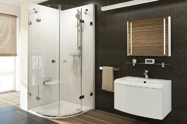 Ravak Brilliant BSKK4-90 négyrészes, negyedköríves zuhanykabin 3U277A00Y1