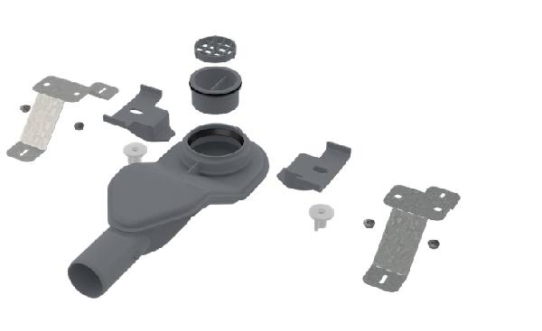 Alcaplast APZ-S6 Extra-alacsony szifon DN40 és készlet állítható lábakkal