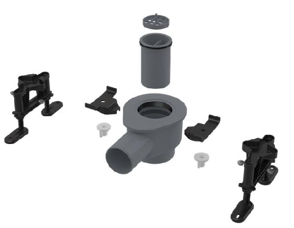 Alcaplast APZ-S12 - Szifon DN50 és készlet állítható lábakkal