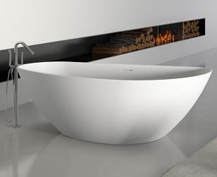 Riho GRANADA szabadon álló Solid Surface kád 170x80cm BS18