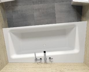 Riho ZAMORA szabadon álló Solid Surface kád 220x100cm BS4700500000000