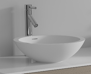 Riho Avella Solid Surface kör mosdó Ø 42x14 cm