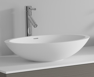 Riho Avella Solid Surface oval mosdó 58x36cm F7AN60583611110