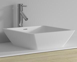 Riho Avella Solid Surface szögletes mosdó 42x42cm F7AN60424211110