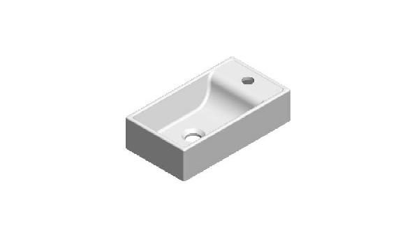 T2 öntött márvány kézmosó 400x220x100mm