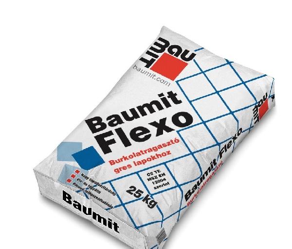 Baumit Baumacol Flexo flexibilis csempe és burkolatragasztó 25 kg